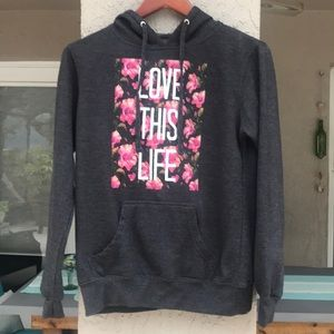 "Empyre sweatshirt/hoodie Size S. ""Love this Life"""